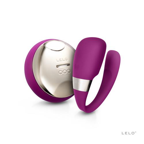 LELO Tiani 3 Vibrator cu Telecomanda pentru Cupluri - culoare Violet thumbnail