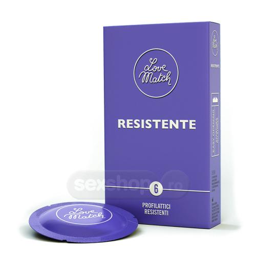 Love Match Rezistent Prezervative - 6 bucati
