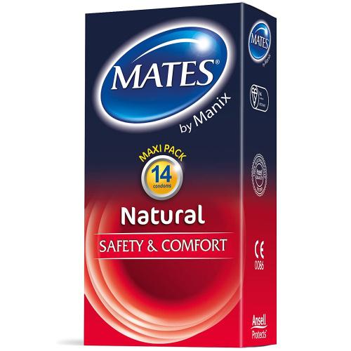 Mates Natural+ Sigur si Confortabil Prezervative 14 bucati thumbnail