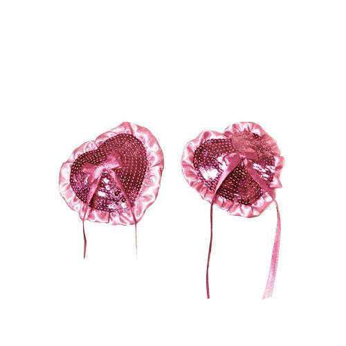Baci Accesorii Roz pentru Sani din Paiete cu Panglica 1018
