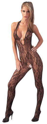 Mandy Mystery Catsuit Decoltat cu Perle - Small-Medium